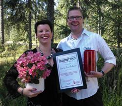 SUSEL maineteko -palkinto Sari ja Jari Aaltoselle
